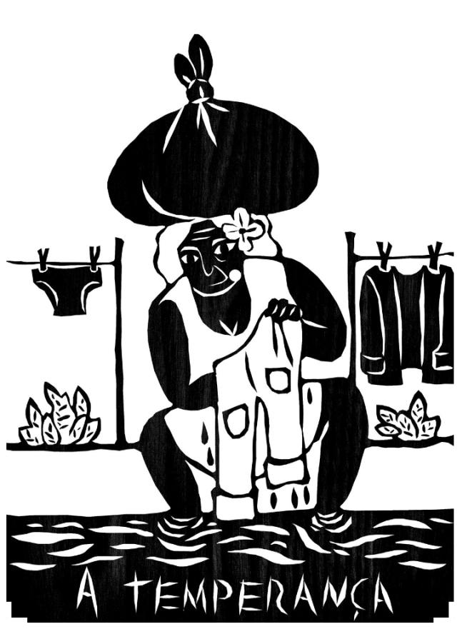 A Temperança - Lavadeira Nordestina por Pedro índio Negro - Col. Tarô Nordestino
